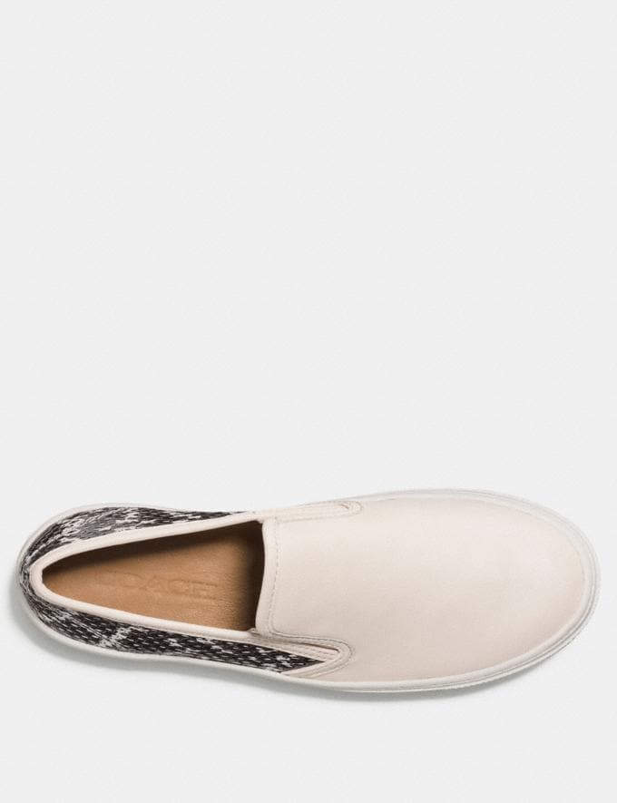 Coach Cameron Slip on  in Snakeskin Chalk/Black White SALE Women's Sale Shoes Alternate View 2