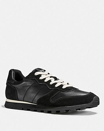 RUNNER WITH RIVETS AND SIGNATURE - Trainers - black Real Gflx4wT