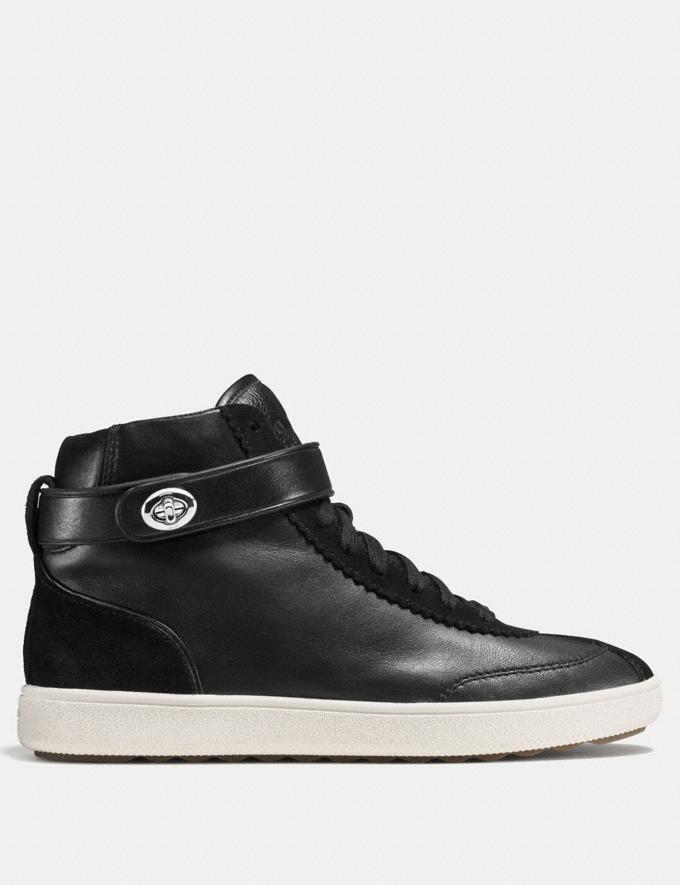 Coach C213 High Top Sneaker Black/Black  Alternate View 1