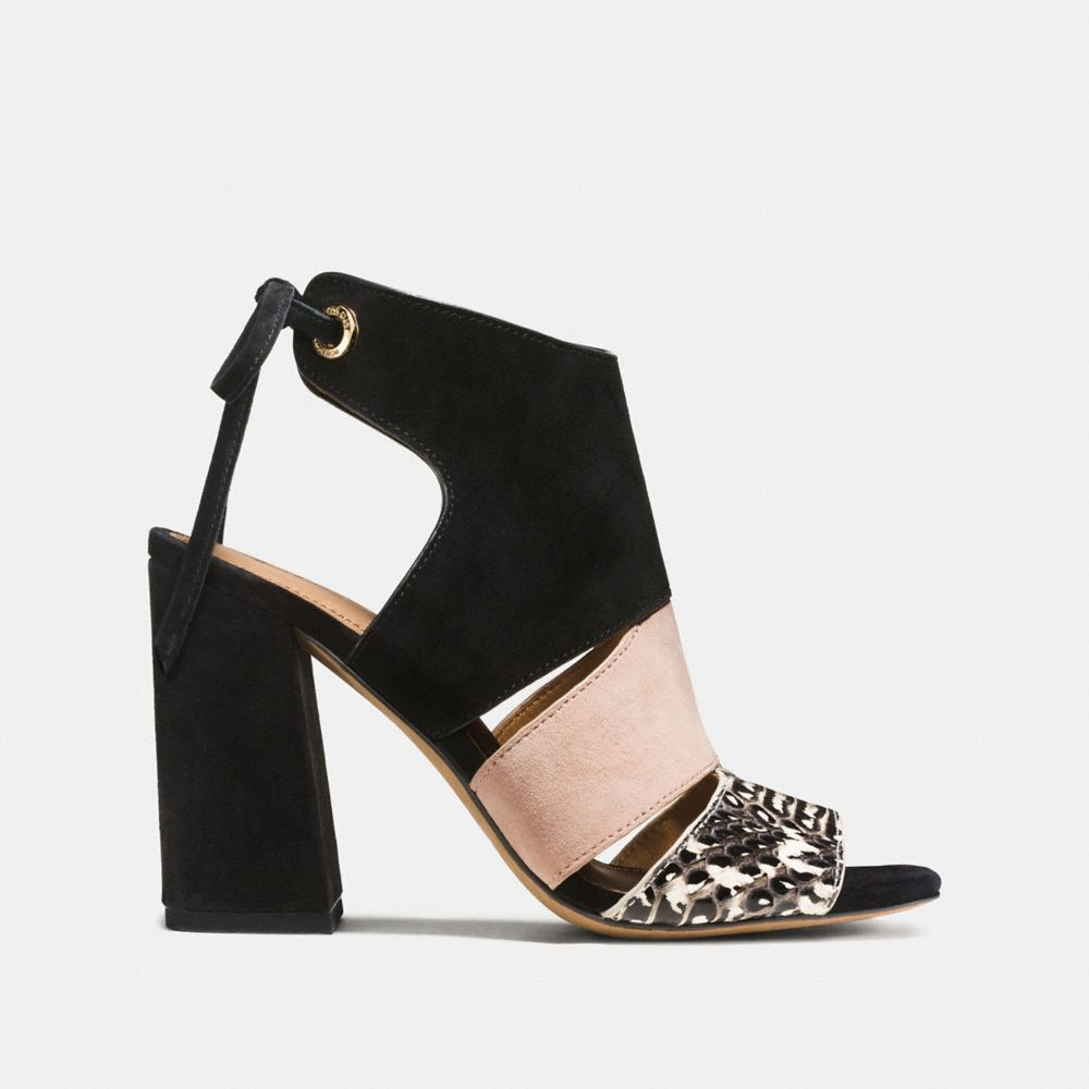 Coach Minetta Sandal With Snakeskin Alternate View 1