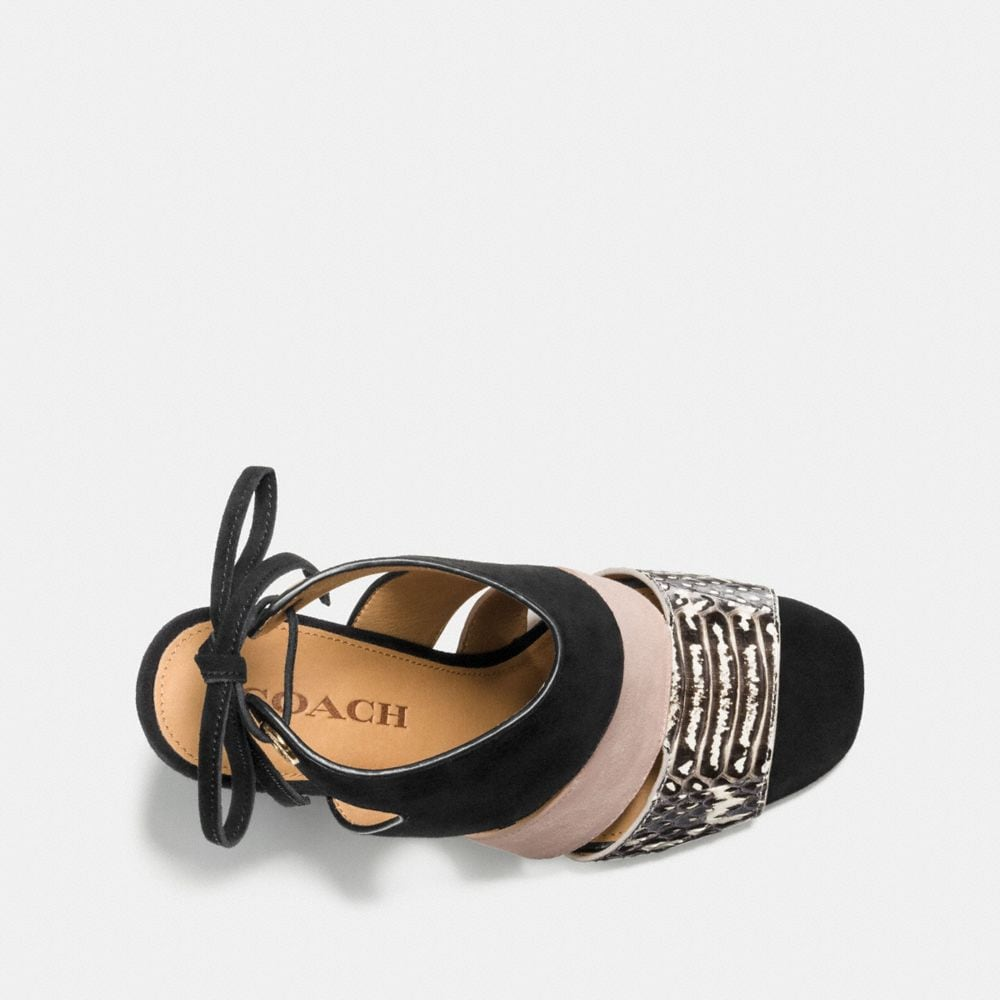Coach Minetta Sandal With Snakeskin Alternate View 2