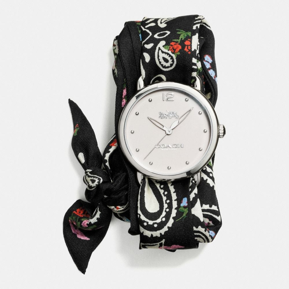 Coach Delancey Scarf Strap Watch