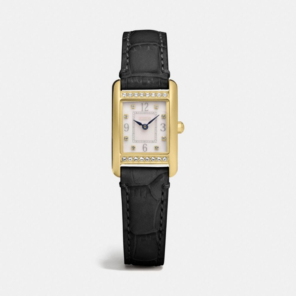 Lexington Gold Plated Mini Crystal Strap Watch