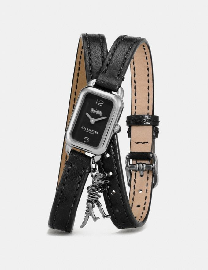 Coach Ludlow Double Wrap Watch With Charm, 17mm X 24mm Black Women Accessories Watches Alternate View 1