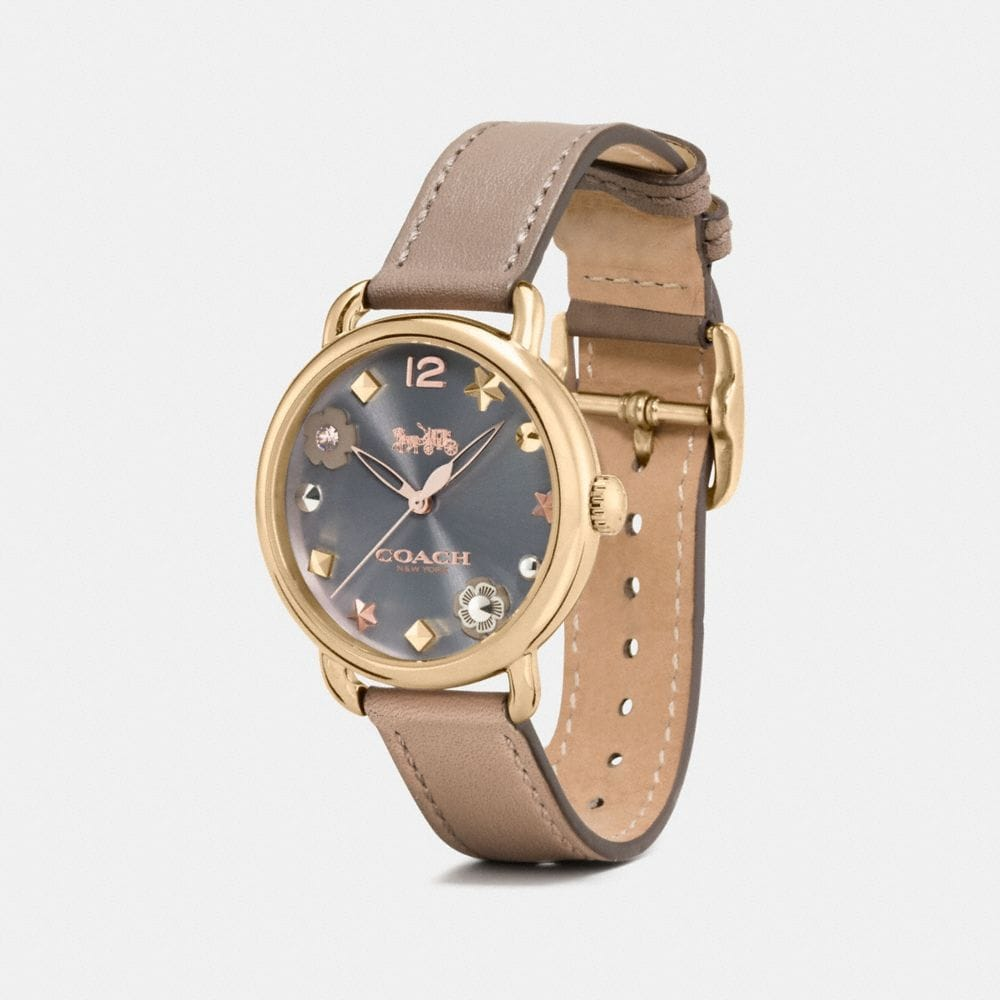 Coach Delancey Watch With Charm Dial Alternate View 1