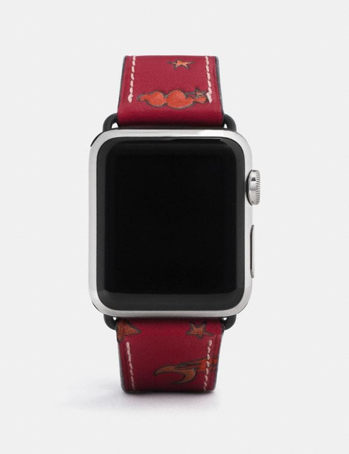 Coach Apple Watch® Strap With Prints Pigtini Party Women Accessories Watches