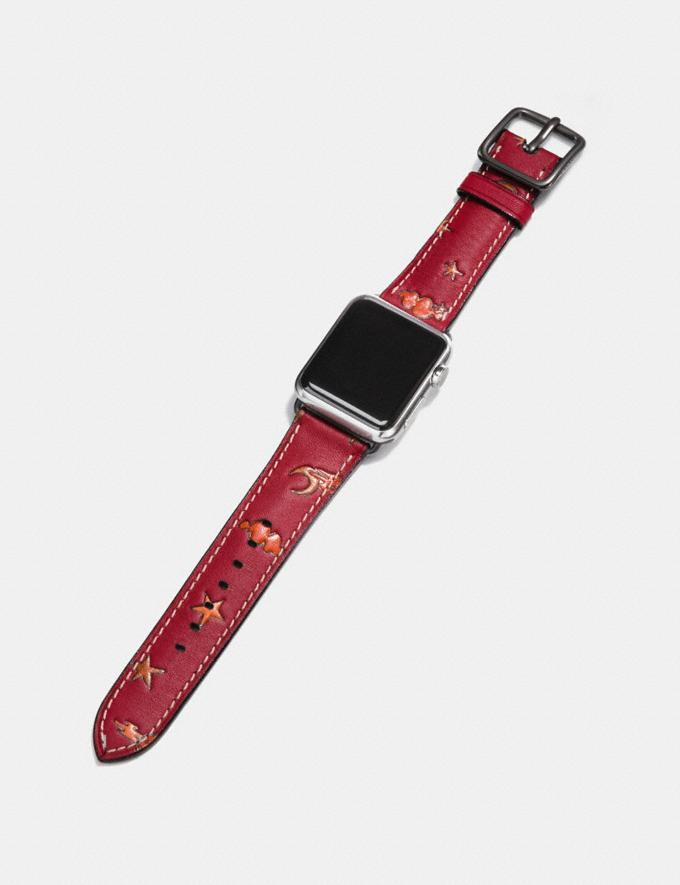 Coach Apple Watch® Strap With Prints Pigtini Party Women Accessories Watches Alternate View 1