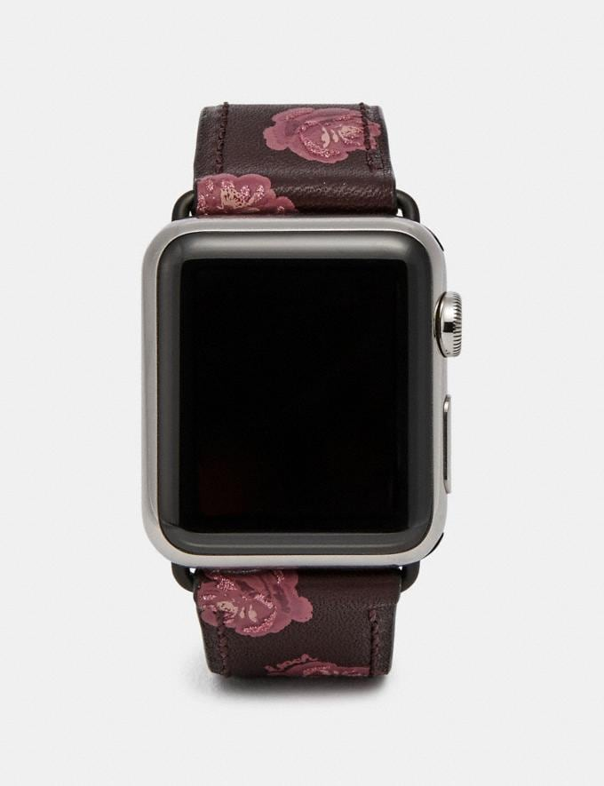 Coach Apple Watch® Strap With Prints Rose Print Women Accessories Watches