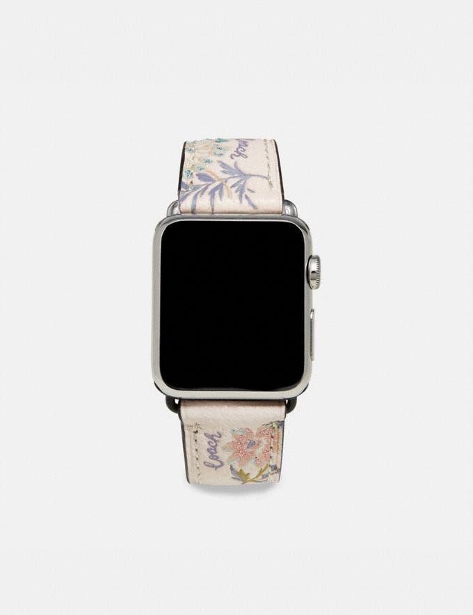 Coach Apple Watch® Strap With Prints Meadow Floral Women Accessories Watches