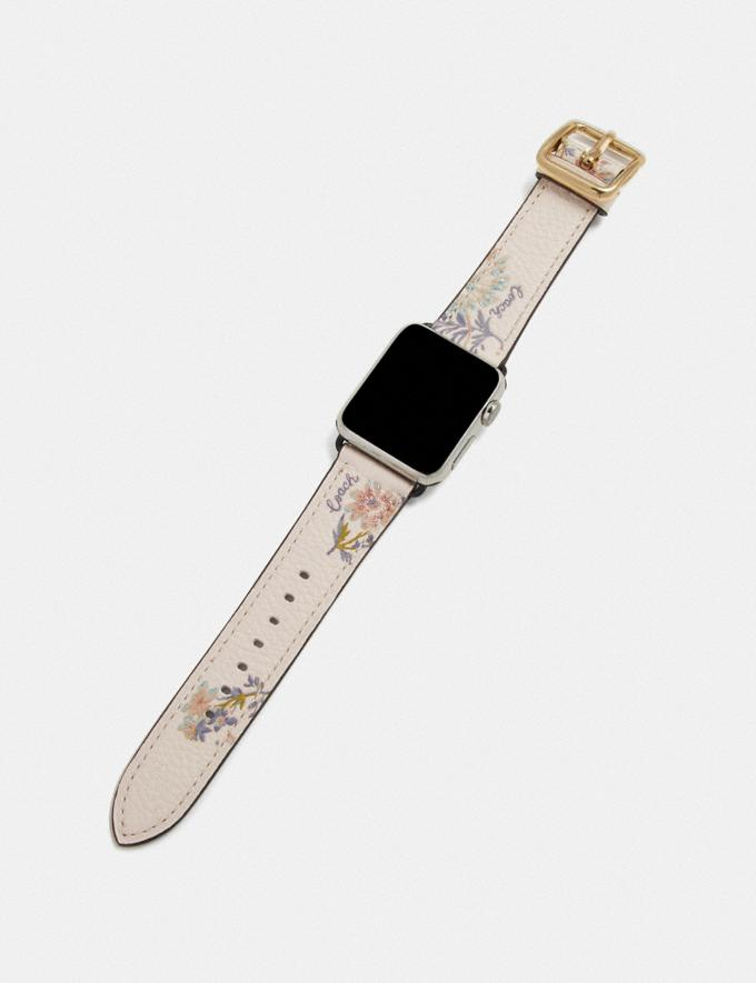 Coach Apple Watch® Strap With Prints Meadow Floral Women Accessories Watches Alternate View 1