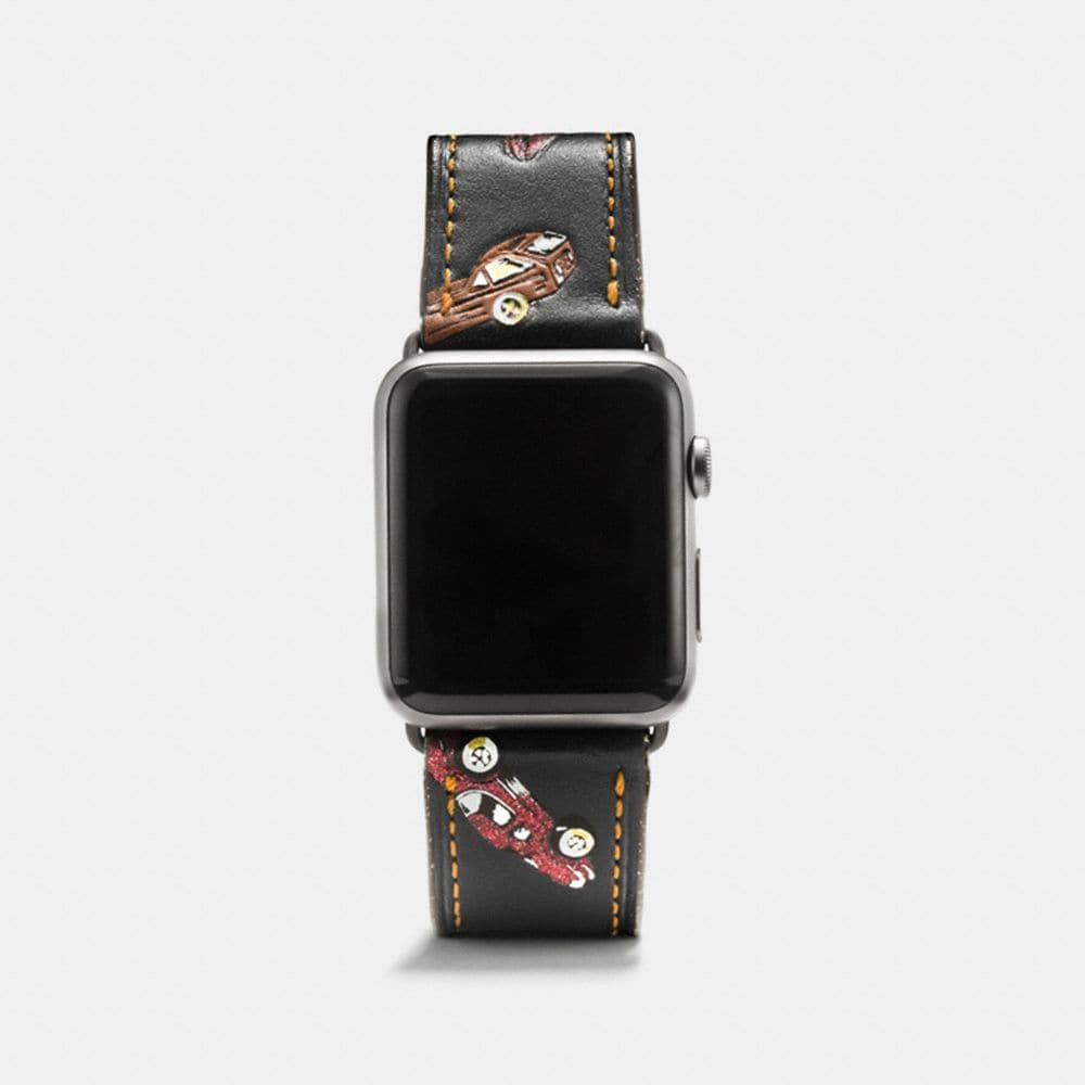 BRACELET APPLE WATCH® EN CUIR IMPRIMÉ
