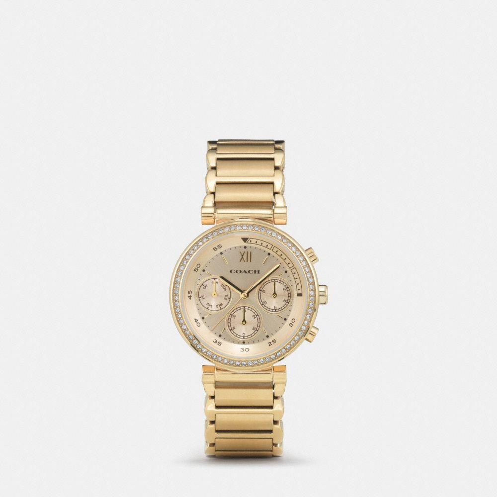 Coach 1941 Sport Gold Plated Bracelet Watch