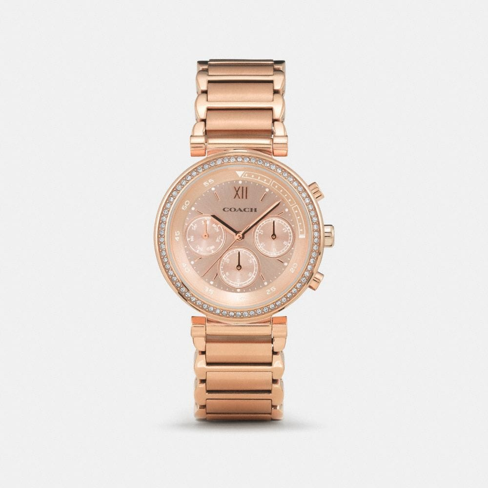 Coach 1941 Sport Rose Gold Plated Bracelet Watch