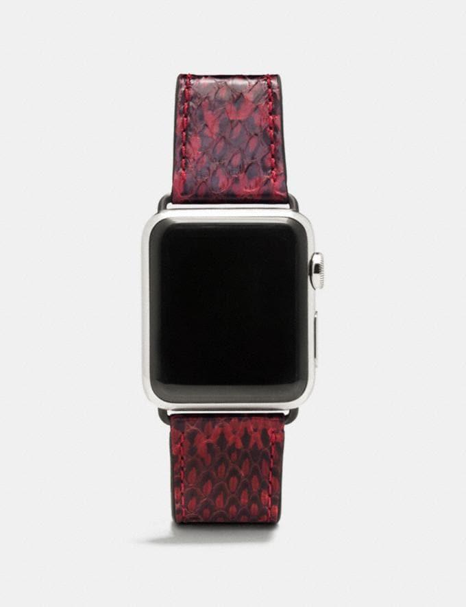 Coach Apple Watch® Armband Aus Schlangenleder Weinrot Damen Accessoires Uhren