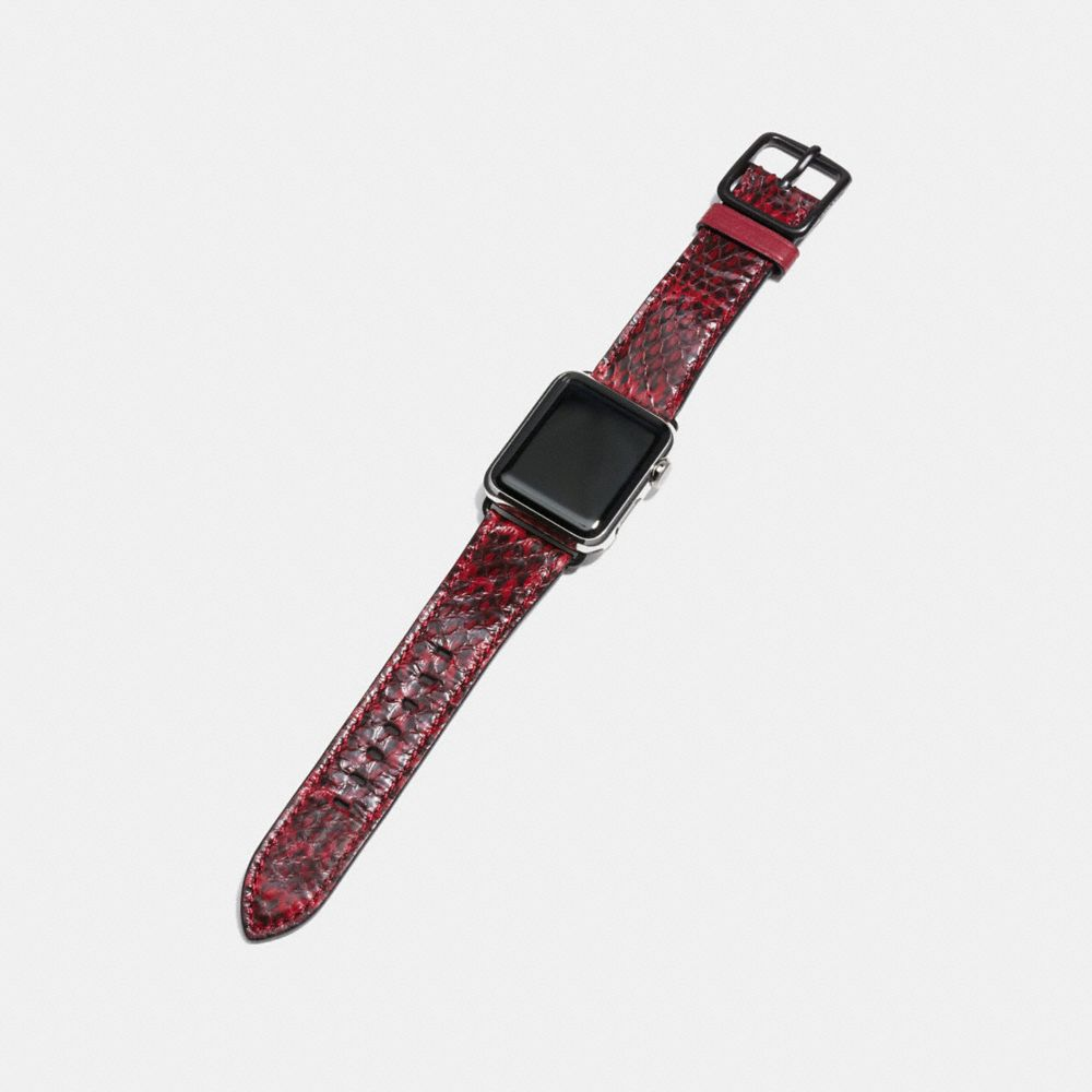 Coach Apple Watch® Strap in Snakeskin Alternate View 1