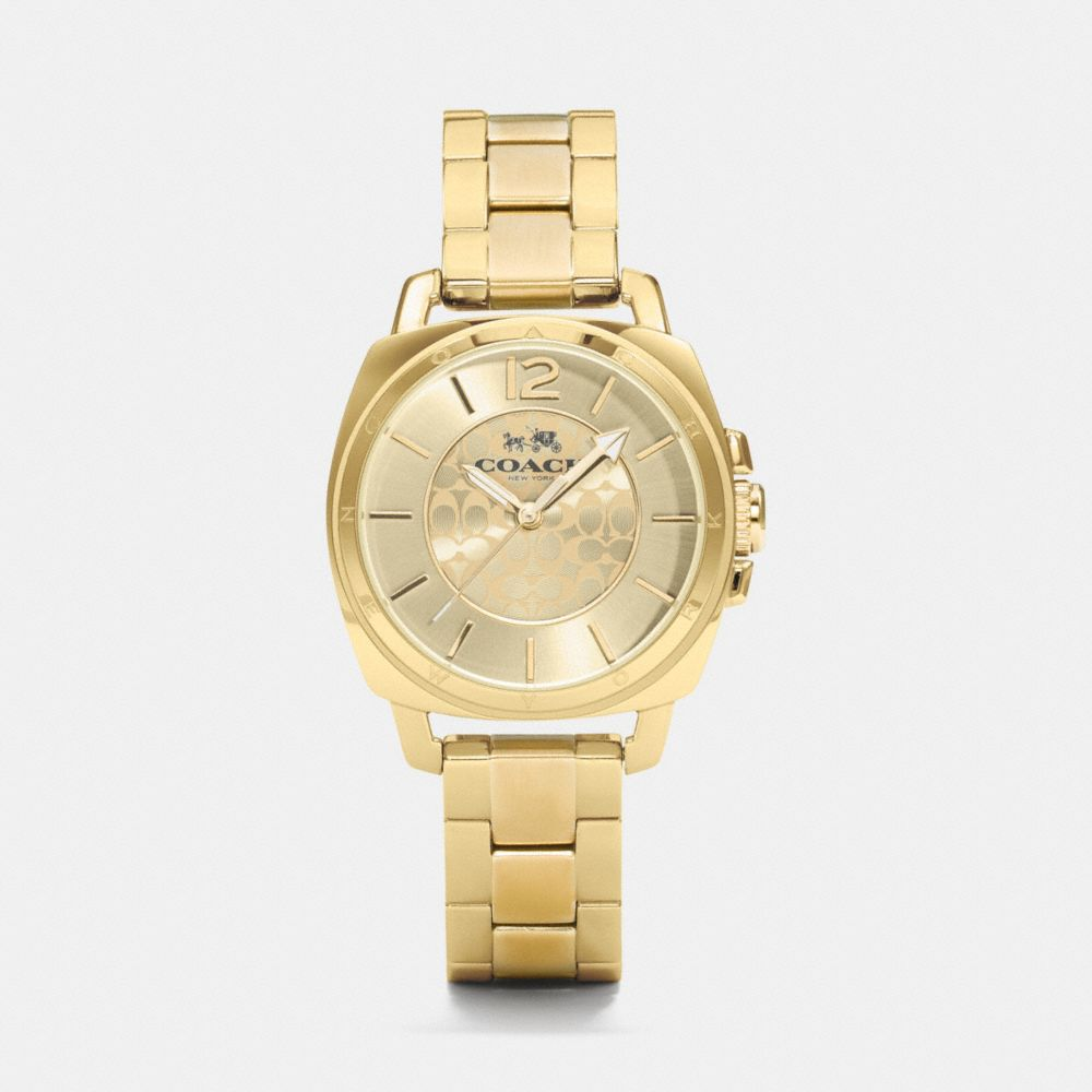 Boyfriend Small Gold Plated Bracelet Watch