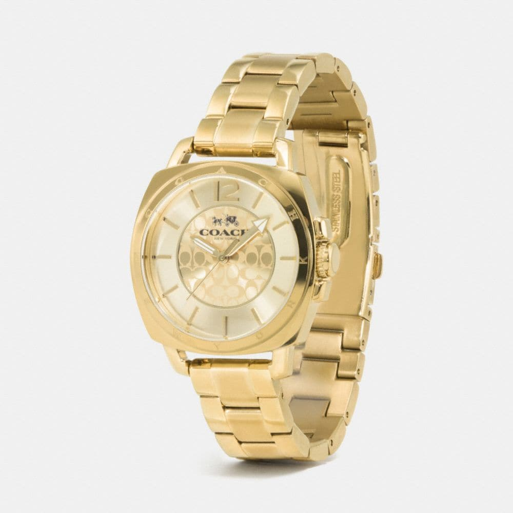Boyfriend Small Gold Plated Bracelet Watch - Alternate View A1