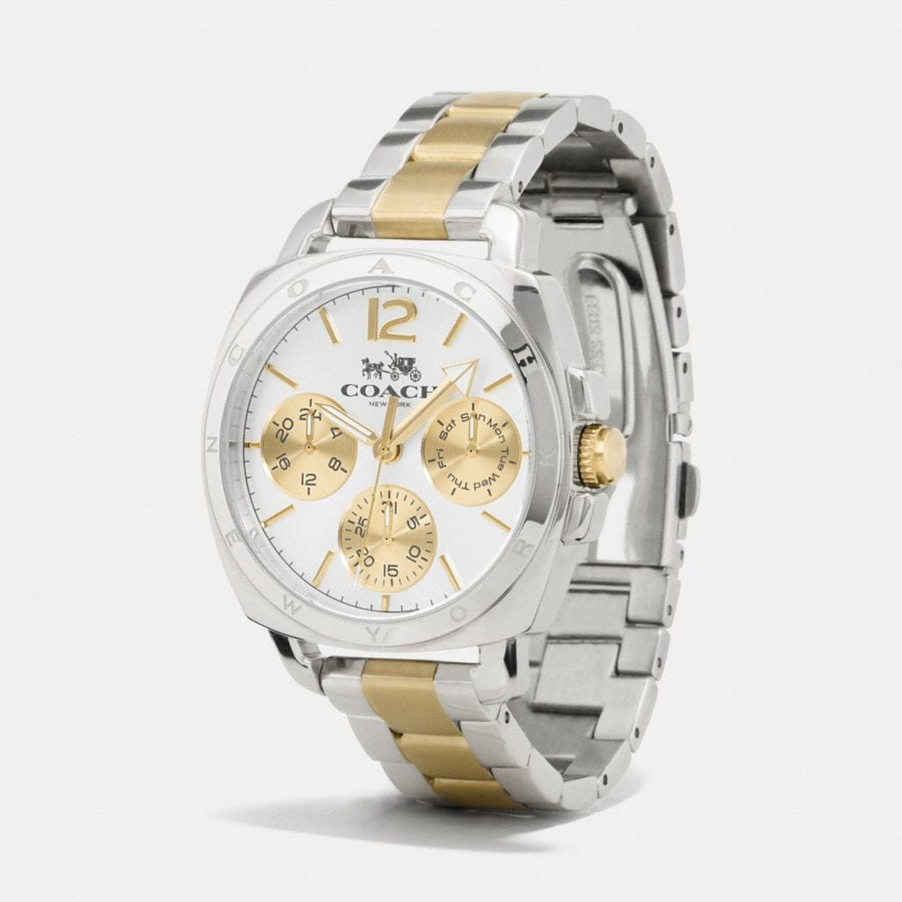 Boyfriend 38mm Two-Tone Multifunction Bracelet Watch - Alternate View A1