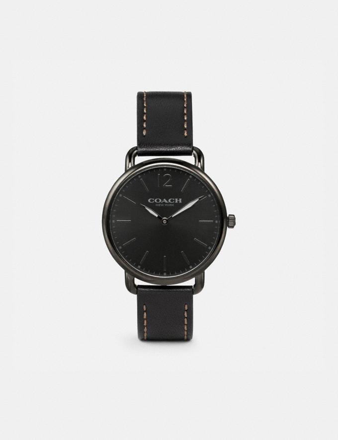 Coach Delancey Slim Watch, 40mm Black/Gunmetal Gifts For Him Under $300