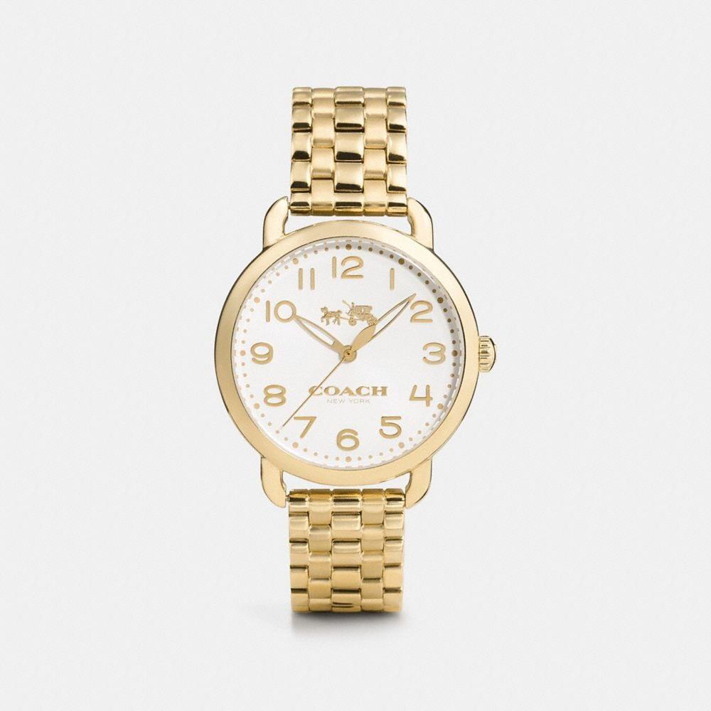 Delancey 36mm Gold Plated Bracelet Watch