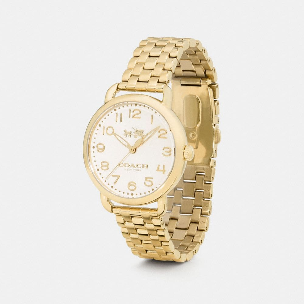 coach designer watches delancey gold plated bracelet