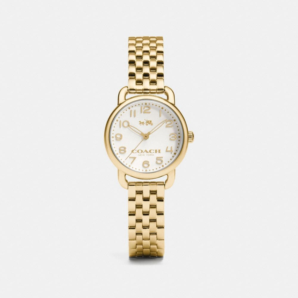 DELANCEY 28MM GOLD PLATED BRACELET WATCH