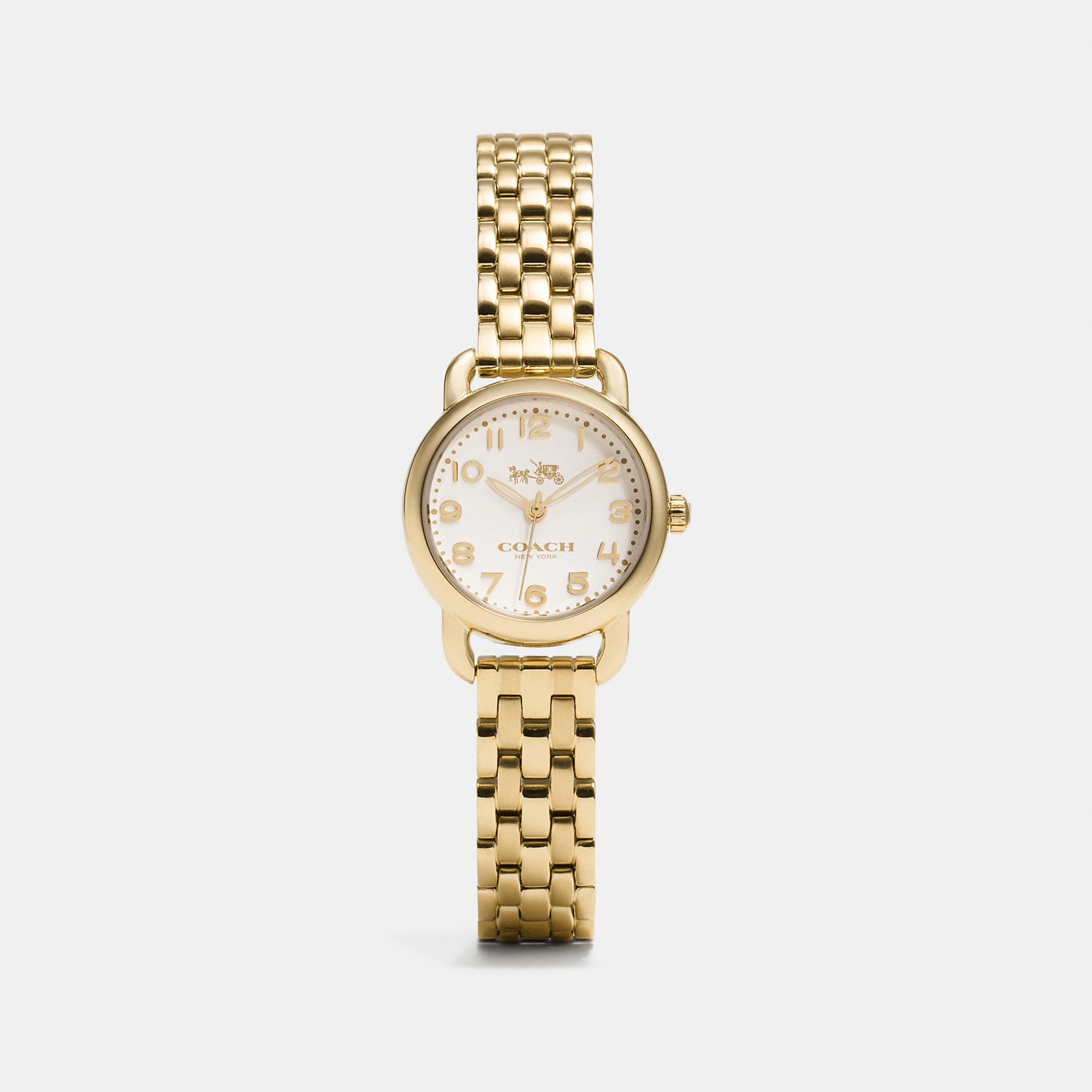 Coach Delancey Small Gold Plated Bracelet Watch