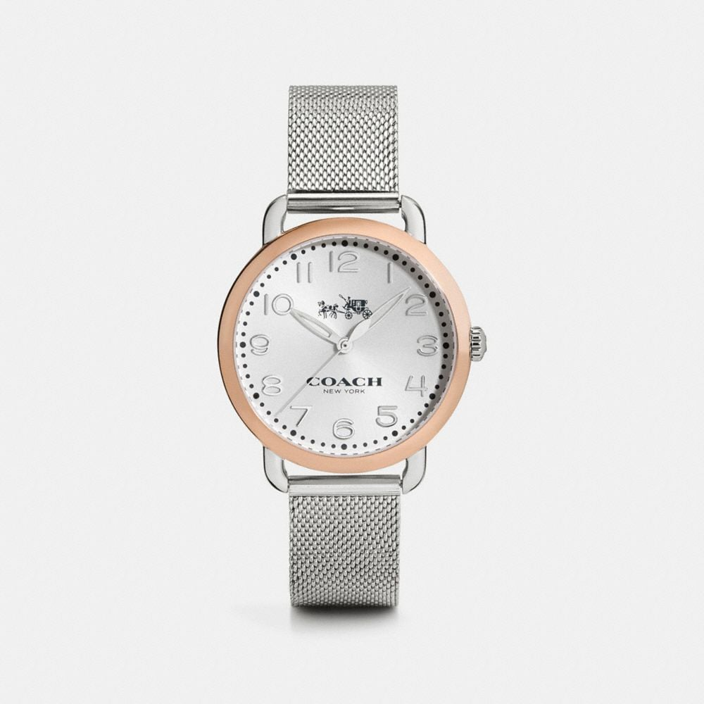 Delancey Two-Toned Mesh Bracelet Watch