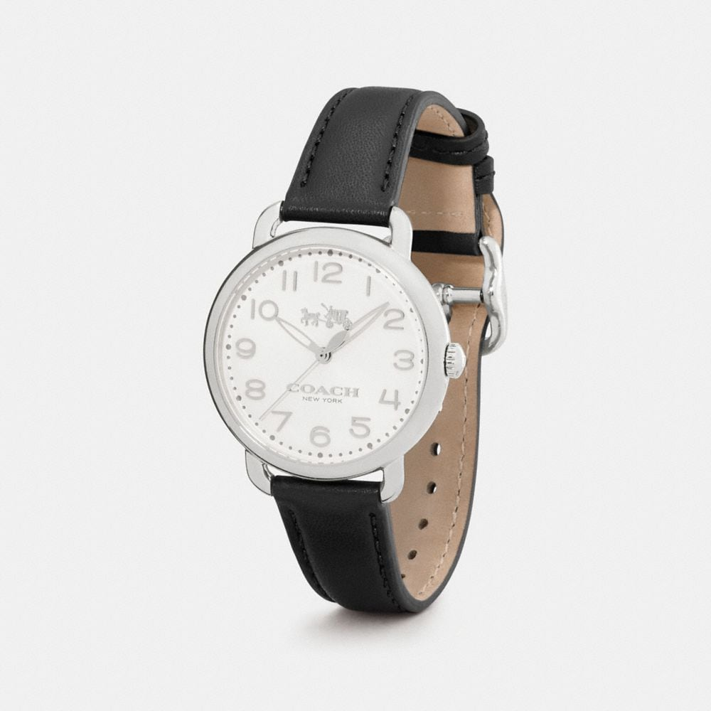 Coach Delancey 36mm Stainless Steel Leather Strap Watch Alternate View 1