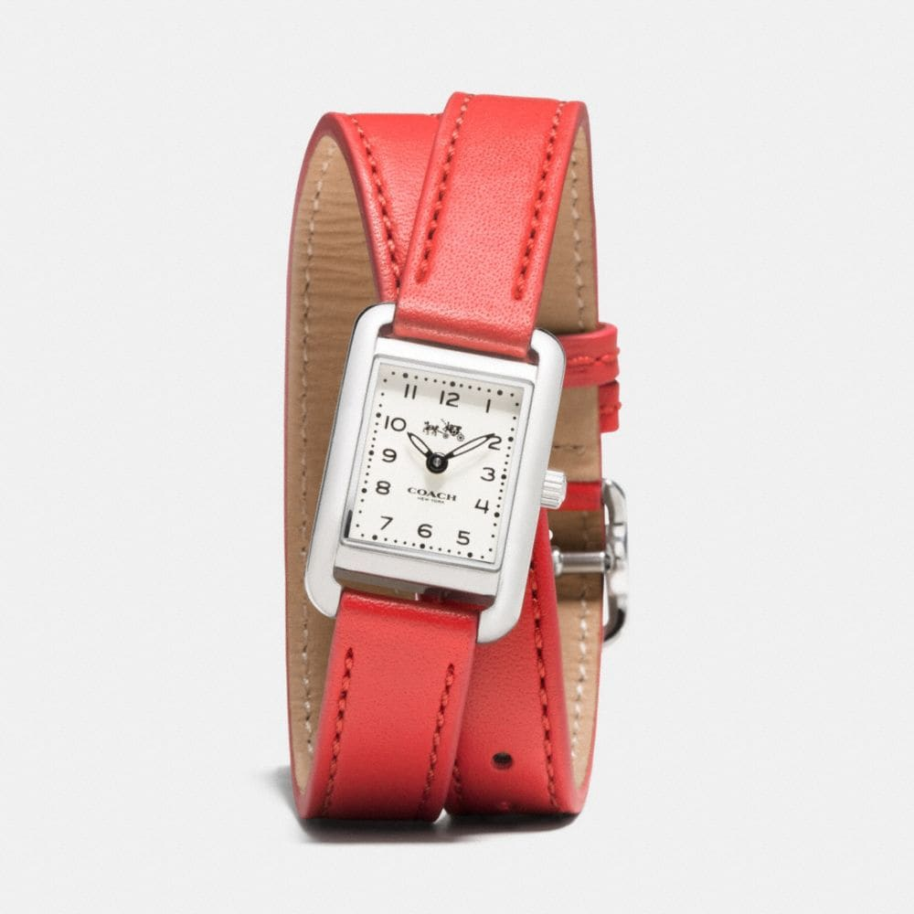THOMPSON STAINLESS STEEL DOUBLE WRAP WATCH