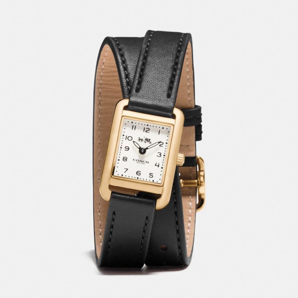 THOMPSON GOLD PLATED DOUBLE WRAP WATCH