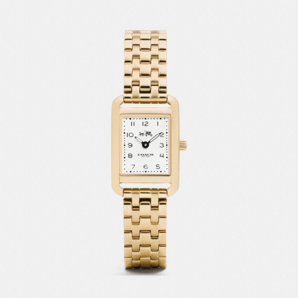 Coach Thompson Gold Plated Bracelet Watch