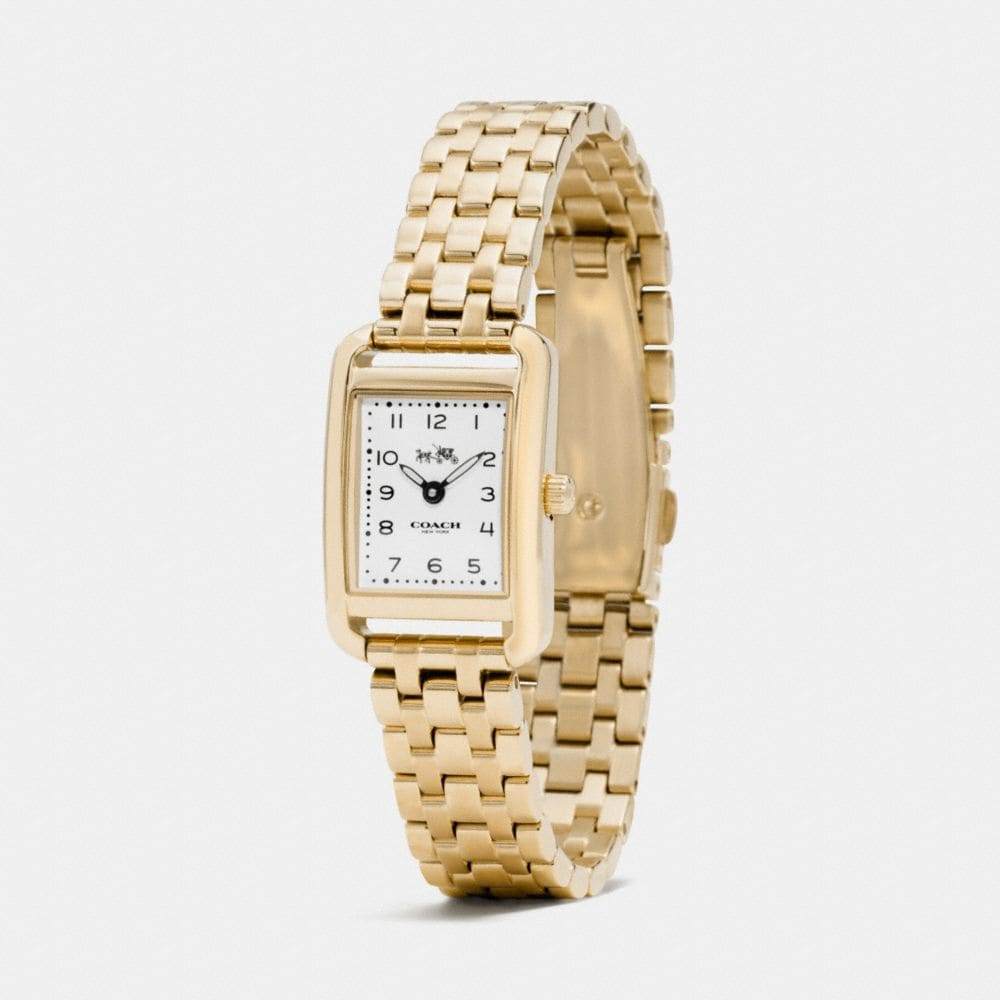 Coach Thompson Gold Plated Bracelet Watch Alternate View 1