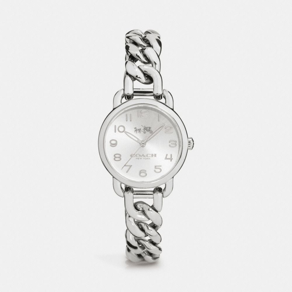 DELANCEY 28MM STAINLESS STEEL CHAIN LINK BRACELET WATCH