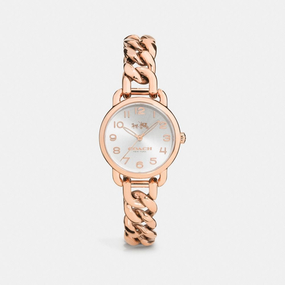 Delancey 28mm Rose Gold Plated Chain Link Bracelet Watch