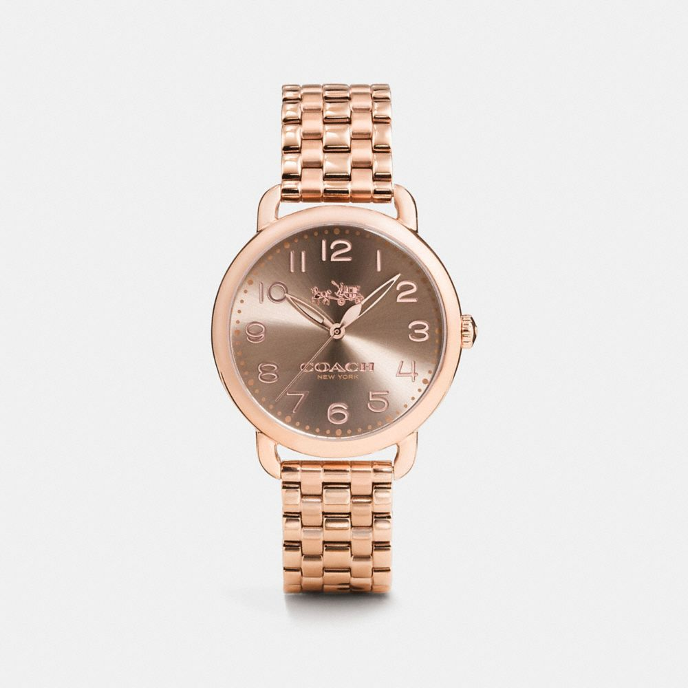Coach Delancey 36mm Rose Gold Plated Bracelet Watch