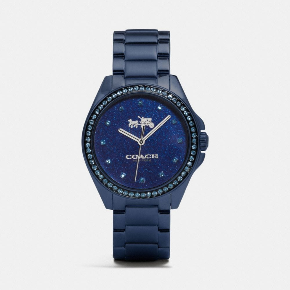 TRISTEN 36MM NAVY CAR PAINT DIAL BRACELET WATCH