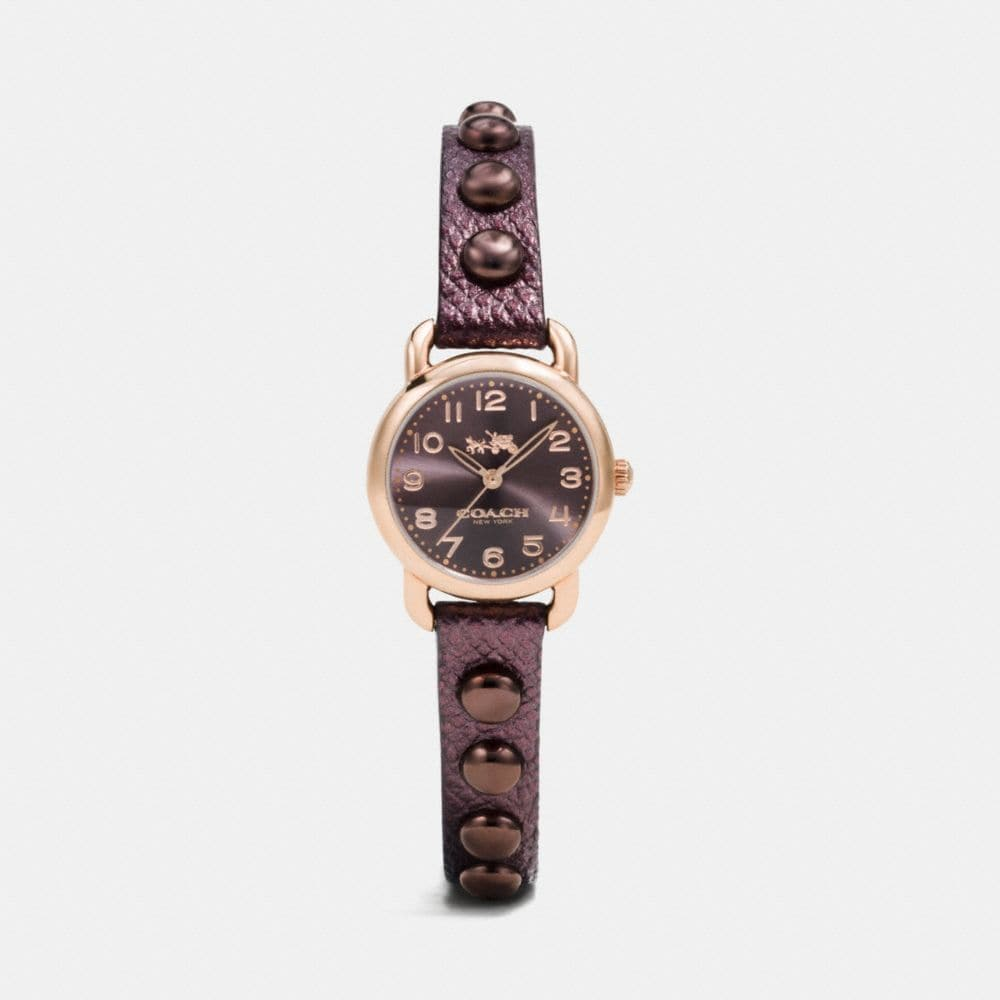 DELANCEY 23MM ROSE GOLD PLATED STUDDED STRAP WATCH