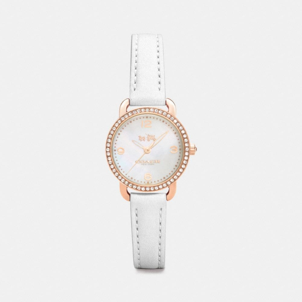Coach Delancey Rose Gold Plated Mother of Pearl Set Strap Watch