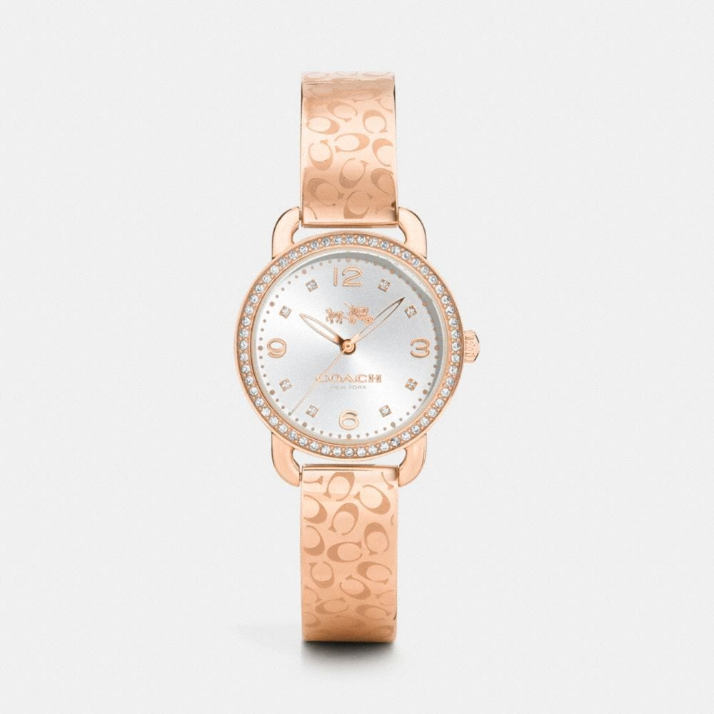 delancey 28mm signature c rose gold plated bangle watch