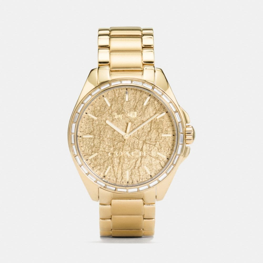 Coach Tristen Foil Dial Gold Plated Bracelet Watch