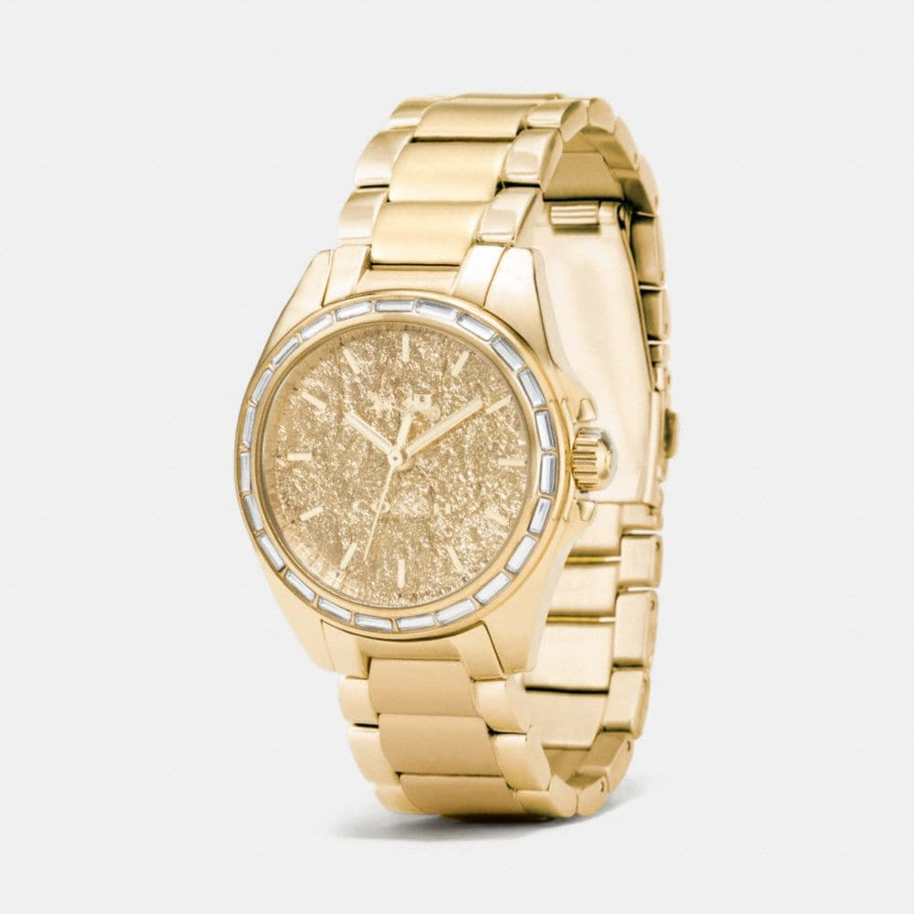 Coach Tristen Foil Dial Gold Plated Bracelet Watch Alternate View 1
