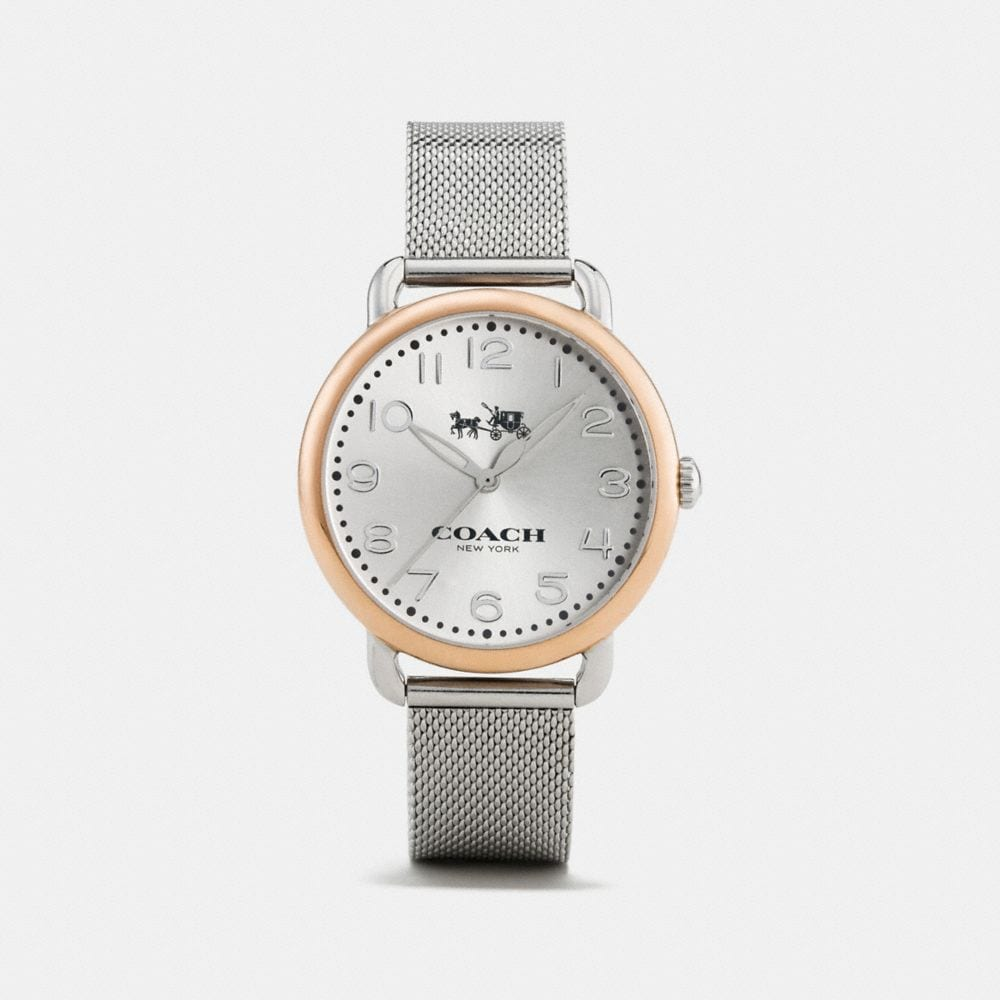 Coach Delancey Two-Tone Mesh Bracelet Watch