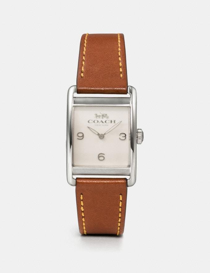 Coach Renwick Watch, 25mm X 35mm Saddle Women Accessories Watches