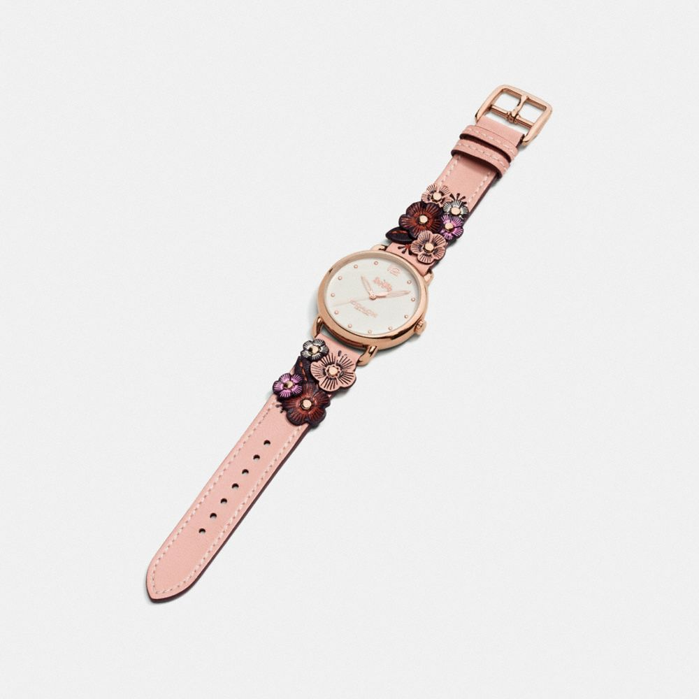 Coach Delancey Watch With Floral Applique, 36mm Alternate View 1