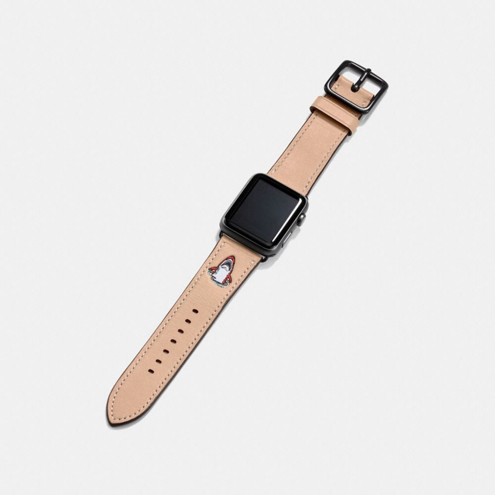 Coach Apple Watch® Strap With Sharky Alternate View 1