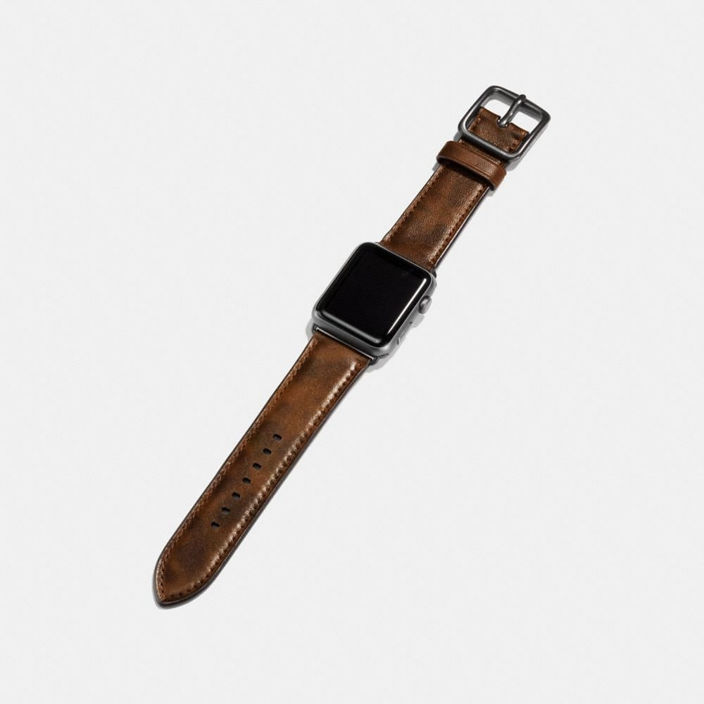 Coach Apple Watch® Strap With Camo Print Alternate View 1