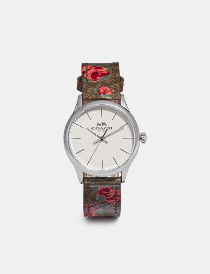 Coach Ruby Watch, 32mm Khaki/Pink/Silver