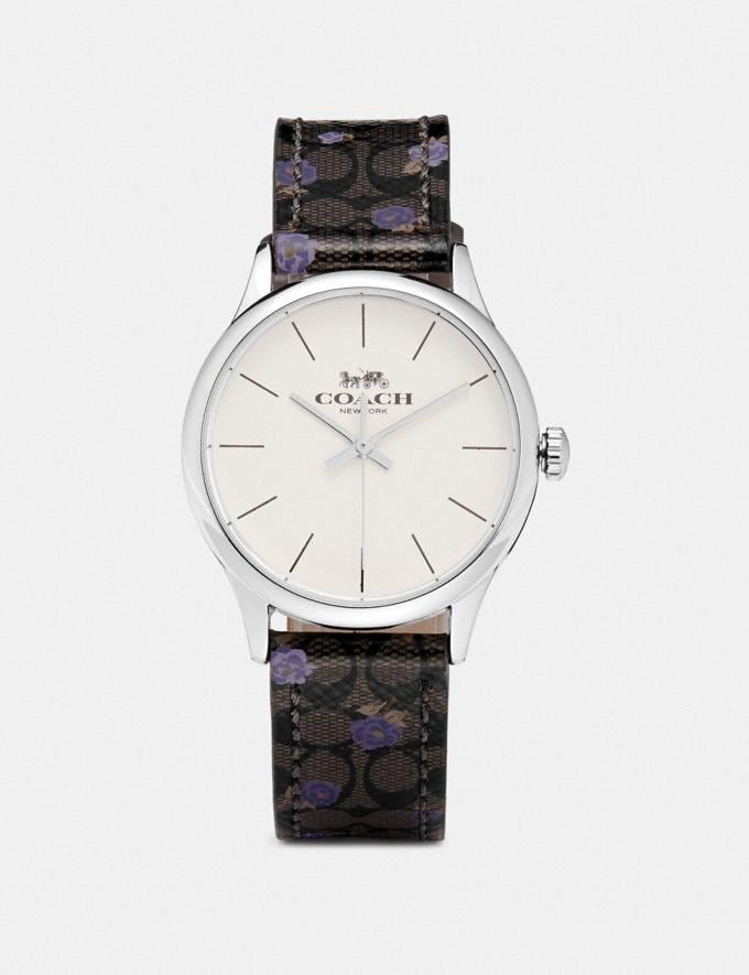 Coach Ruby Watch, 32mm Mahogany/Purple/Silver