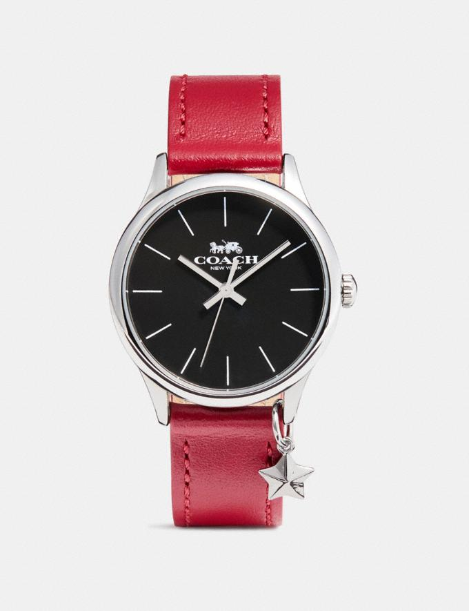 Coach Ruby Watch, 32mm Red/Black